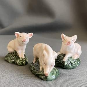 Set of Three Royal Doulton Pig Figures