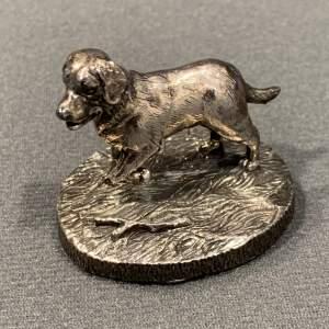 Camelot Silverware Co Silver Dog Figure