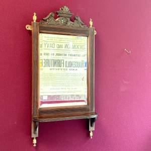 Edwardian Wall Mirror with Shelf