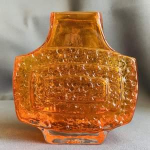 Whitefriars Tangerine Glass TV Vase