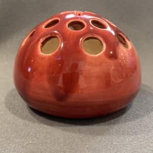 Dr Christopher Dresser Dark Red Linthorpe Posy Vase