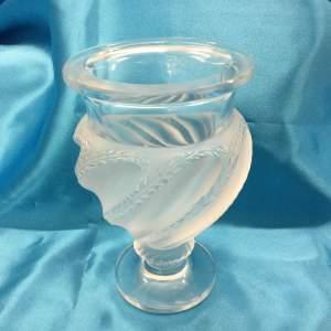 Lalique Ermenonville Glass Vase