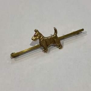 9ct Gold Scotty Dog Brooch