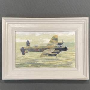 Avro Lancaster Framed Original Oil Painting