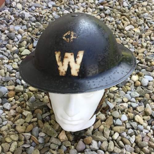 A WW2 Air Raid Warden Tin Helmet image-1