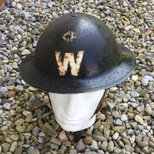 A WW2 Air Raid Warden Tin Helmet