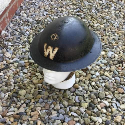 A WW2 Air Raid Warden Tin Helmet image-6