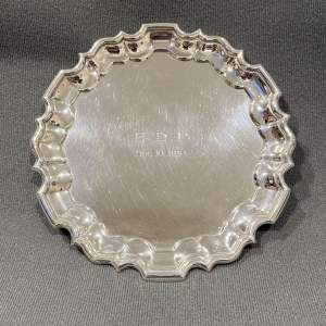 Silver Card Waiter by Mappin and Webb