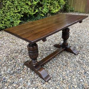 Carved Oak Coffee or Occasional Table