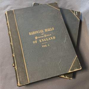 19th Century 2 Volumes of Baronial Halls and Picturesque Edifices