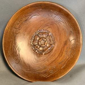 Arts and Crafts Style Harry Tonkin Carved Wooden Bowl