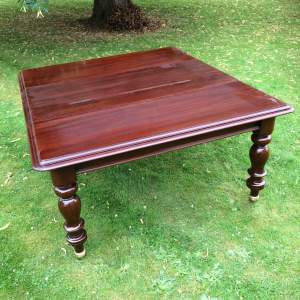 Victorian Mahogany Extending Pull Out Dining Table