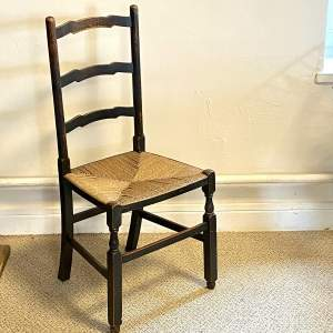 19th Century Rush Seated Chair
