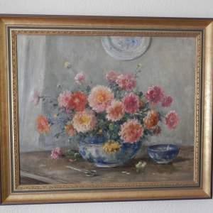 Chrysanthehums by Owen Bowen ROO.  PRCamA. Born 1873 -1967.