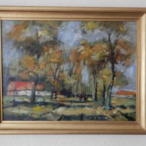 Oil Painting on Canvas by J. Rotsaart Circa 1940