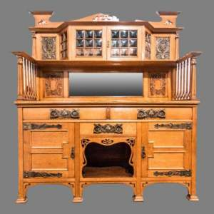 Arts and Crafts Oak Sideboard in the manner of  Liberty and Co