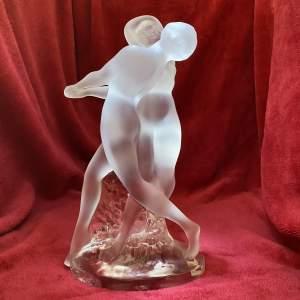 Lalique Deux Danseuse Glass Double Dancer Sculpture by Marc Lalique