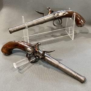 Pair of Queen Anne Flintlock Pistols by Jones of London