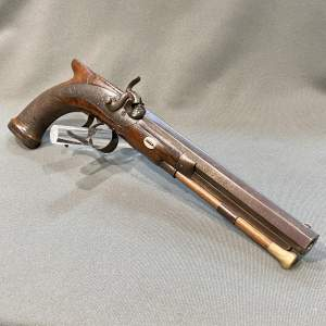 19th Century Percussion Officers Pistol by Rigby of Dublin