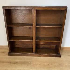 Art Deco Floor Standing Oak Bookcase - Display Shelves