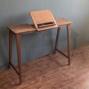 Edwardian Oak Reading Table