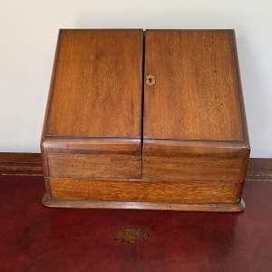 Good Quality Mahogany Stationary Box with Inkwell - Victorian