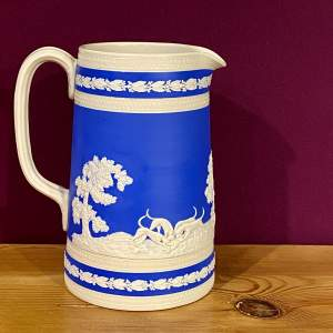 19th Century Copeland Spode Blue Pottery Jug