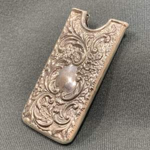 Early 20th Century Solid Silver Calling Card Case