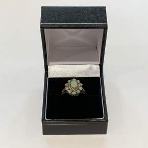 9ct Gold And Opal Cluster Ring
