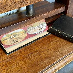 Two 19th Century Fore Edge Painted Books - Poetical Works of Thomson
