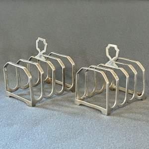 Pair of Early 20th Century Silver Toast Racks