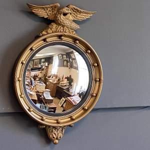 Regency Style Gilt Convex Wall Mirror