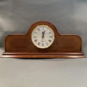 Inlaid Edwardian Mantel Clock