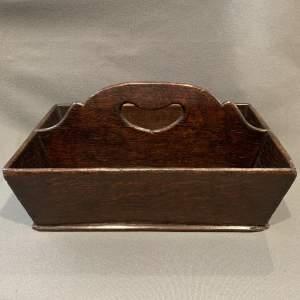 A 18th Century Small Oak Cutler Tray