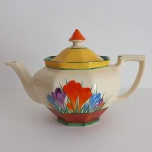 Clarice Cliff Bizarre Autumn Crocus Athens Teapot