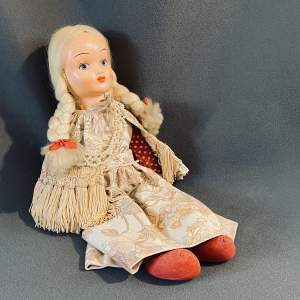 1940s Vintage Doll with Pearl Necklace