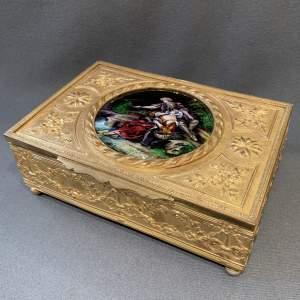 19th Century Limoges Enamel And Gilt Box