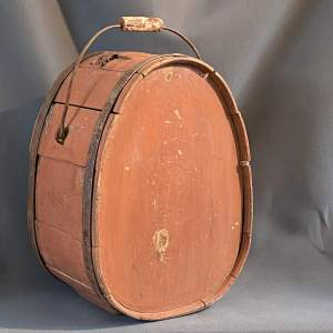 19th Century Swedish Pine Coopered Water Vessel