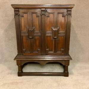 17th Century And Later Oak Cupboard On Stand