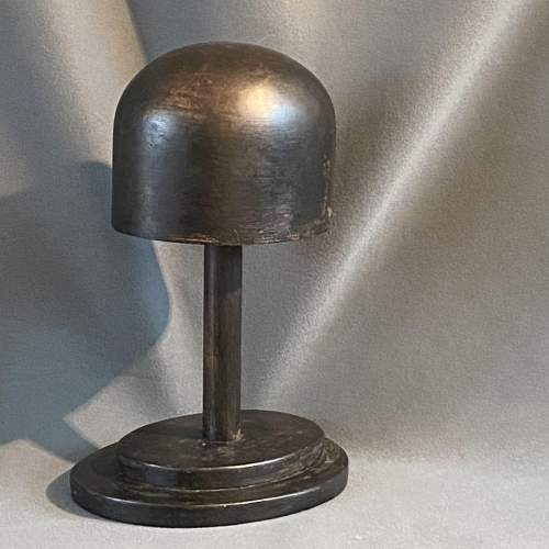 Vintage Ebonised Wooden Hat Block image-1