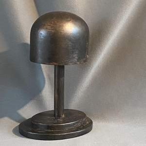 Vintage Ebonised Wooden Hat Block