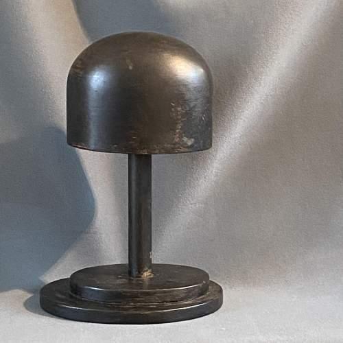 Vintage Ebonised Wooden Hat Block image-2
