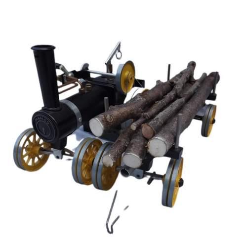Rare Mamod Live Steam TWK1 Traction Engine and Lumber Wagon image-3