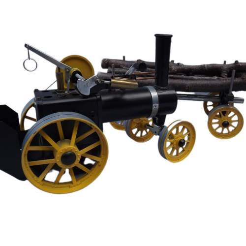 Rare Mamod Live Steam TWK1 Traction Engine and Lumber Wagon image-4