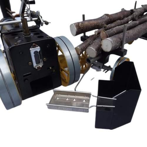 Rare Mamod Live Steam TWK1 Traction Engine and Lumber Wagon image-5