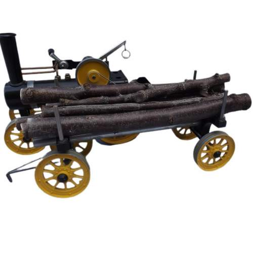 Rare Mamod Live Steam TWK1 Traction Engine and Lumber Wagon image-6