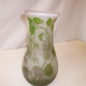 A Lovely Opaque Base Cameo Glass Vase