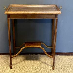 Edwardian Mahogany Tray Top Occasional Table