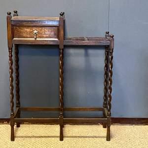 1920s Oak Stick Stand
