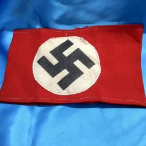 A Nazi German N.S.D.A.P. Party Sewn Swastika Armband